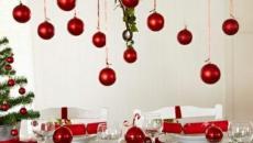 table de Noël décoration boules