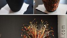 décorer personnaliser l'aspect vase pièces jaunes