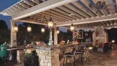idées aménagement cuisine extérieure d'été