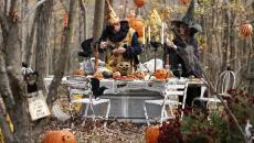 fête dans le bois d'automne déco Halloween