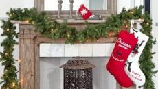 cheminée décoration de Noël intérieur