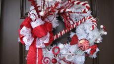 décoration couronne porte fêtes hiver