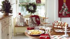 cuisine décorée l'esprit de Noël