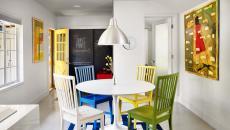 petite salle à manger aux couleurs amusantes