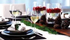 belle table dressée repas de noël