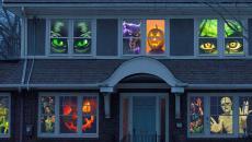 déco fenêtres terrifiante halloween