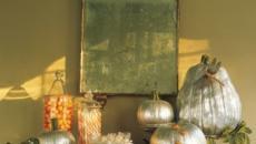 Courgescitrouilles décorées halloween maison