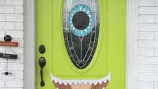 Porte d'entrée décoration originale pixar Halloween