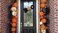 décoration originale porte d'entrée Halloween