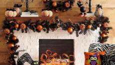 décoration cheminée maison halloween idées originale