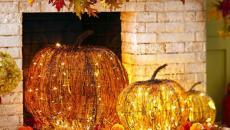 décoration halloween cheminées citrouilles luminaires
