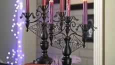 décoration pour halloween chandelier glamour noir design