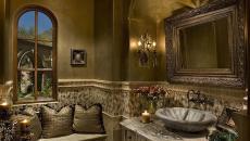 design luxe toilettes rustiques idée déco