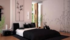 décoration chambre design papier peint zen