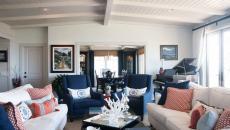 déco marine villa de mer accessoires bleu séjour