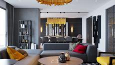 déco maison design gris couleurs vives