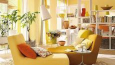 séjour en jaune tendance design intérieur