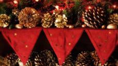 décoration intérieure maison Noël sapin et pin