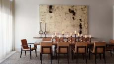 décoration de salle à manger sobre chandelier design