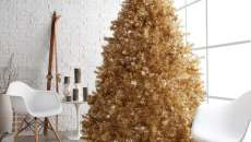 sapin artificiel doré decoration intérieure maison fête