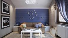 douceur salon blanc et bleu