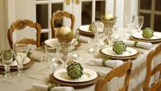 décoration table de noel sobre