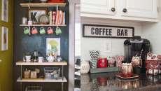 inspiration idées de déco coin café aménagé maison
