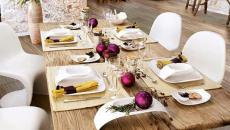 couleurs et déco table de noel personnalisée