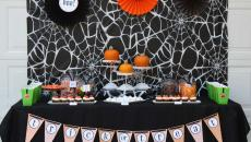 Buffet fête d'Halloween déco sympa