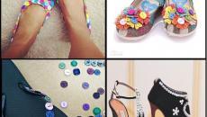 décorer les escarpins sandales avec boutons