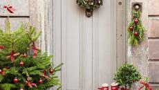 Noël idées déco pour la porte d'entrée