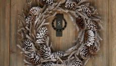 simple rustique couronne de porte Noël