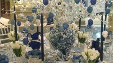 blanc et bleu pour décorer sa table de noel d'une manière unique