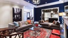 séjour moderne mobilier contemporain déco bleu