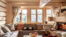 intérieur rustique en bois massif datcha maison de campagne