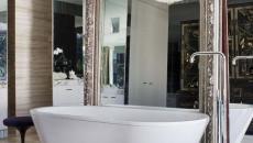 mur miroir baignoire luxe design salle de bains créatif