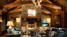 intérieur design bois pierre style rustique