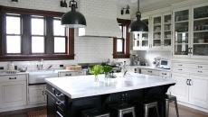 aménagement cuisine traditionnelle deux couleurs