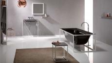 agréable salle de bain contemporaine murs gris