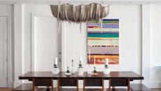 intérieur minimaliste salle à manger moderne déco chandelier