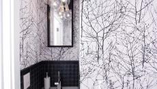 salle de bain papier peint créatif art