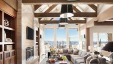 chalet de montagne luxe belle vue salon rustique