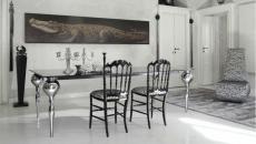 ambiance élégante chaises design salle à manger