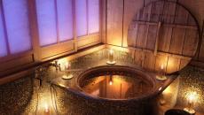 ambiance romantique baignoire en bois salle de bain