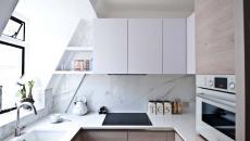 aménager cuisine design dans les combles