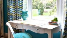 une chaise tulipe design en blanc et turquoise