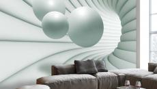 séjour moderne déco murale papier peint original