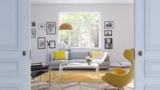 maison joyeuse jaune déco