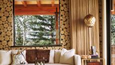 salon maison de campagne secondaire vacances rustiques