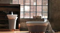 influence industrielle salle de bains créative